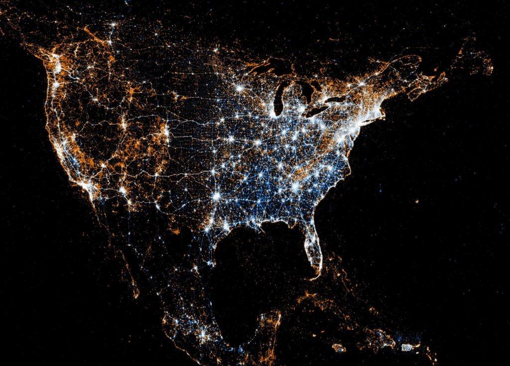 америка из космоса