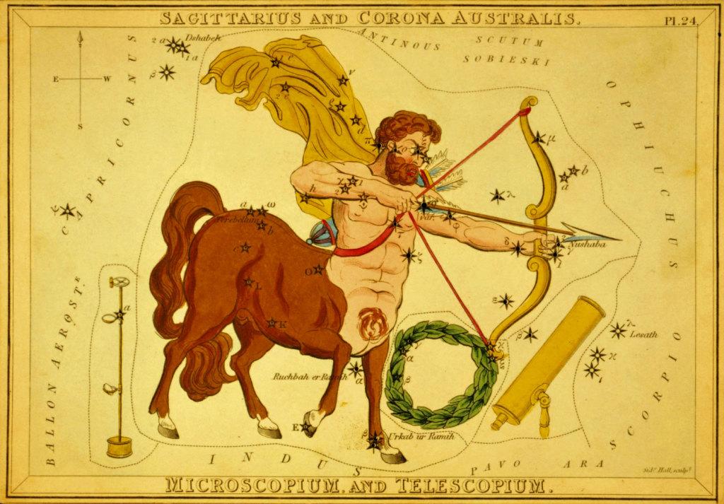 Стрелец, Южная Корона, Микроскоп и Телескоп