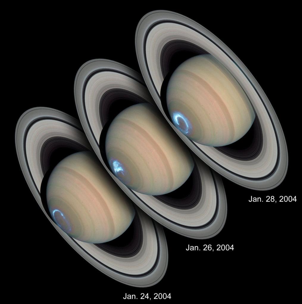 Saturn Aurora HST UV Vis 1015x1024 - Возвращение Сатурна