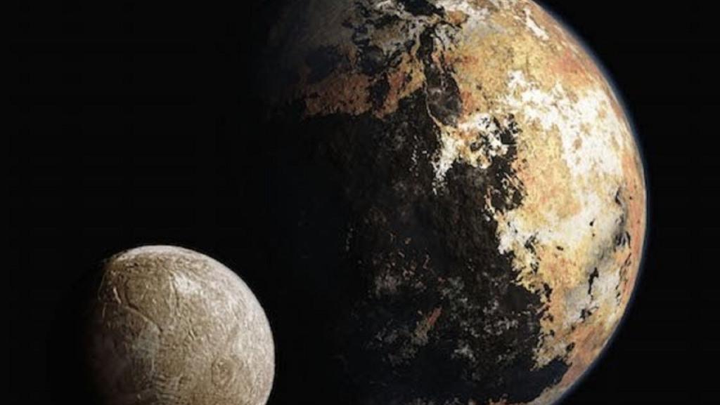 плутон со спутником