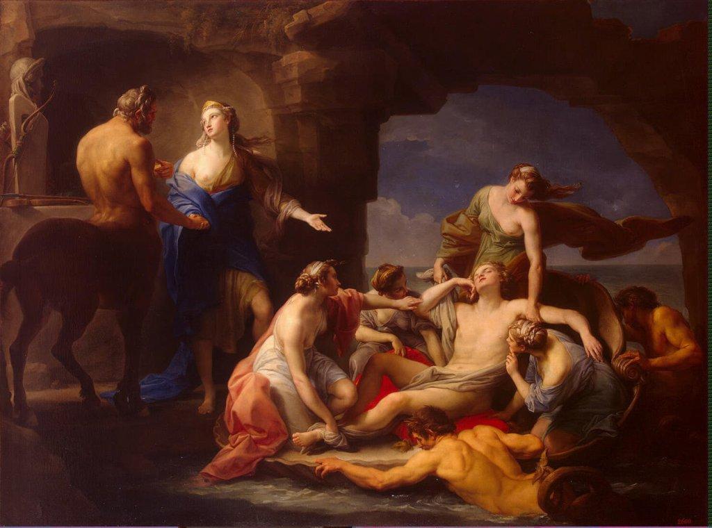 Batoni Pompeo ZZZ Thetis Takes Achilles from the Centaur Chiron 1024x760 - Хирон